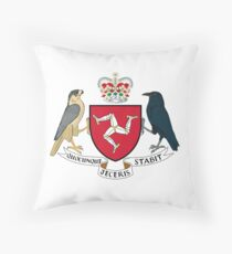 Isle of Man Coat of Arms Throw Pillow