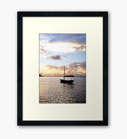 Muri sunset - Muri Lagoon, Rarotonga Framed Print