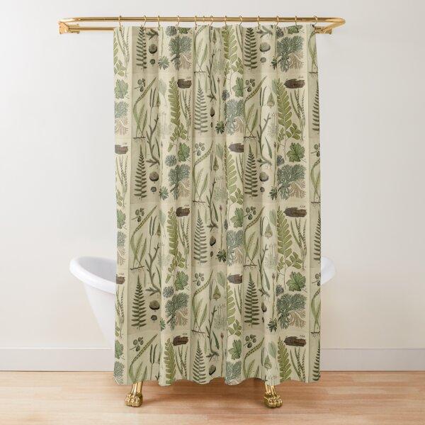 Ferns And Lichen Shower Curtain