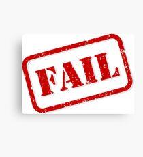 Fail stamp Canvas Print