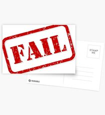 Fail stamp Postcards