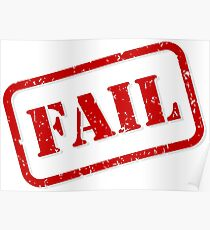 Fail stamp Poster