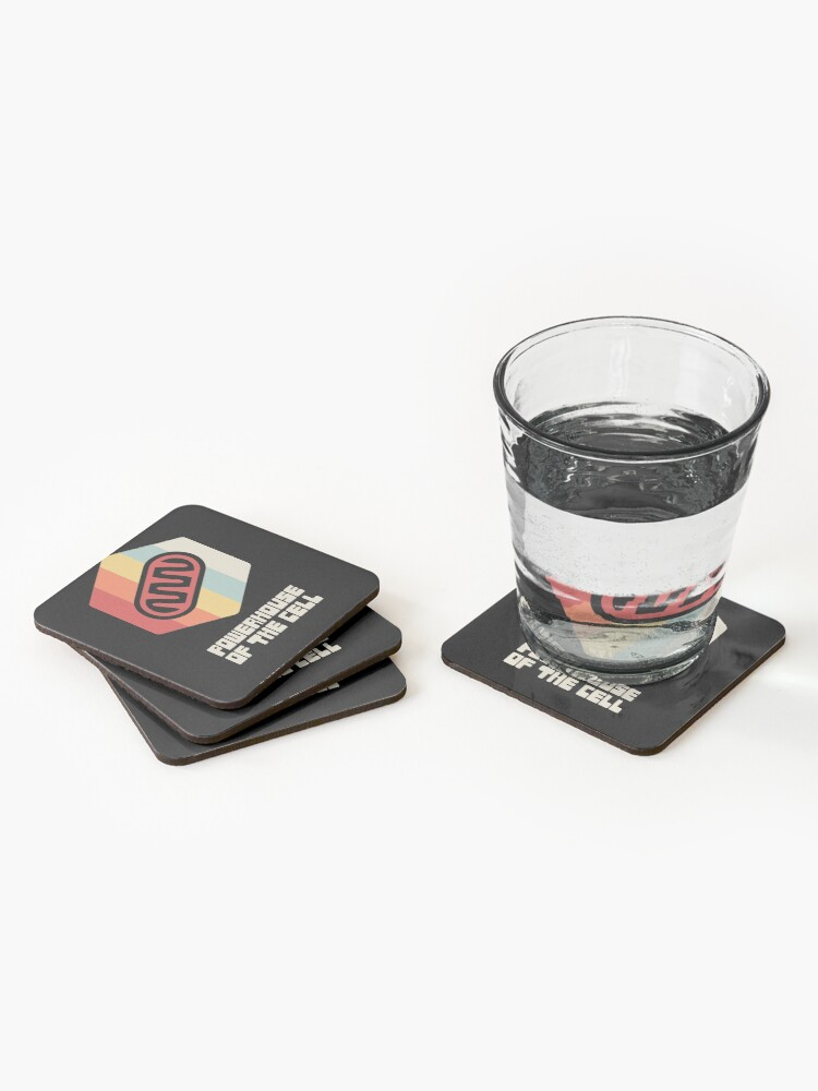 Alternate view of Powerhouse - Mitochondria / Biology Cell Coasters (Set of 4)
