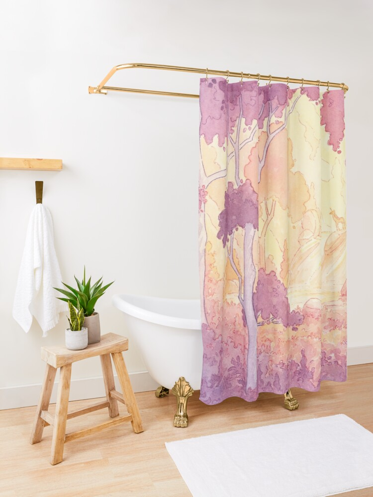 Alternate view of The Last Unicorn Shower Curtain
