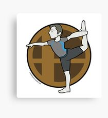 Smash Brothers Original Male Wii Fit Trainer Canvas Print