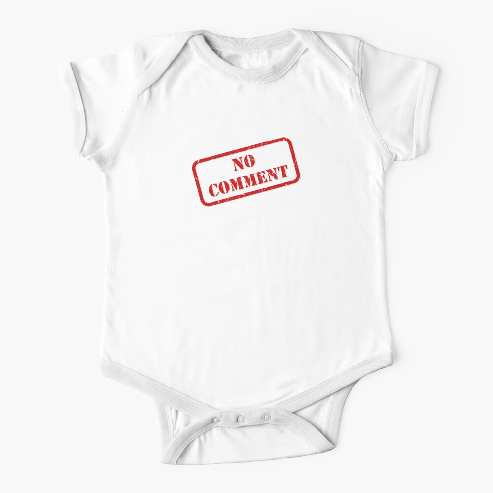 No comment stamp Baby One-Piece