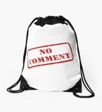 No comment stamp Drawstring Bag