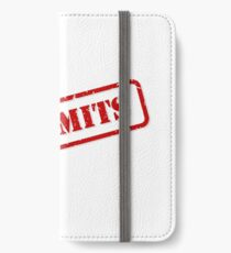 No limits stamp iPhone Wallet/Case/Skin