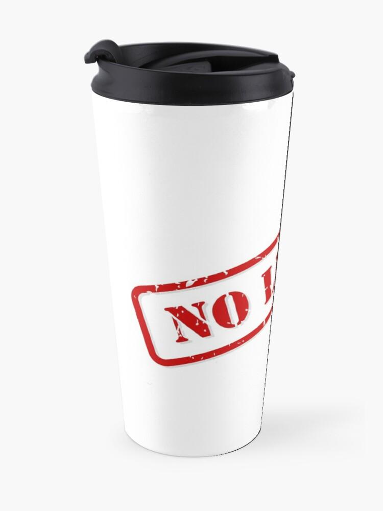 Alternate view of No limits stamp Travel Mug