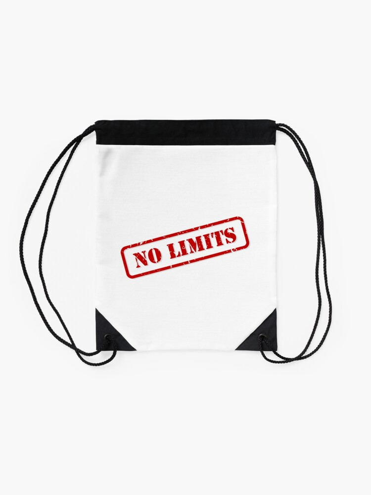 Alternate view of No limits stamp Drawstring Bag