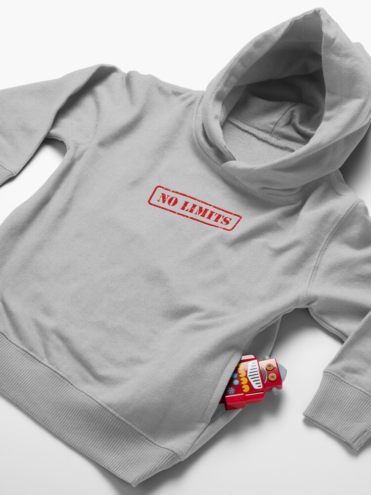 Alternate view of No limits stamp Toddler Pullover Hoodie