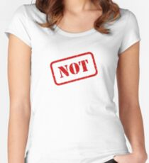 Not stamp Fitted Scoop T-Shirt