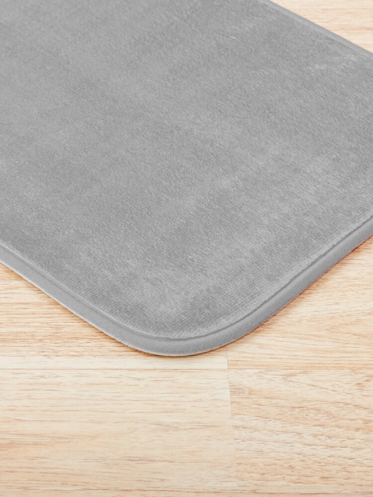 Alternate view of Beautiful Cushions/ Plain Silver Bath Mat
