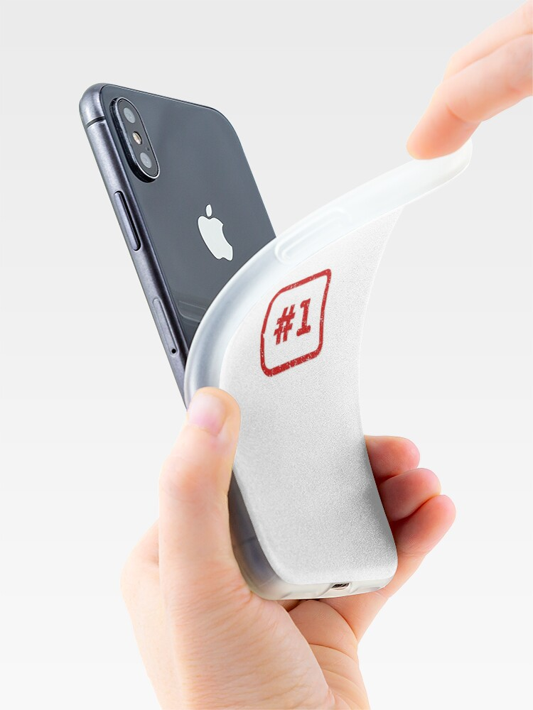 Alternate view of Number 1 Stamp iPhone Case & Cover