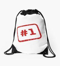Number 1 Stamp Drawstring Bag