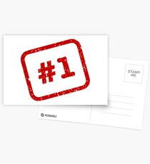Number 1 Stamp Postcards