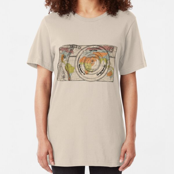Travel The World With A Camera Slim Fit T-Shirt