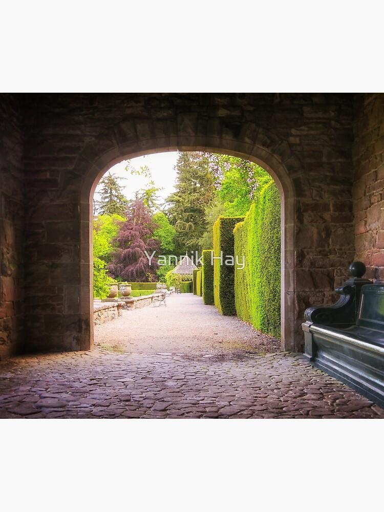 Italian Garden Entrance, Glamis Castle, Scotland by Photograph2u