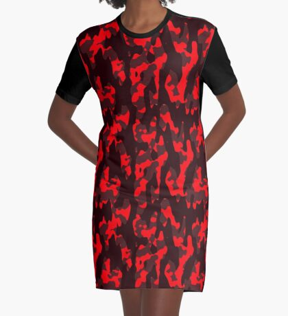 Camo Graphic T-Shirt Dress