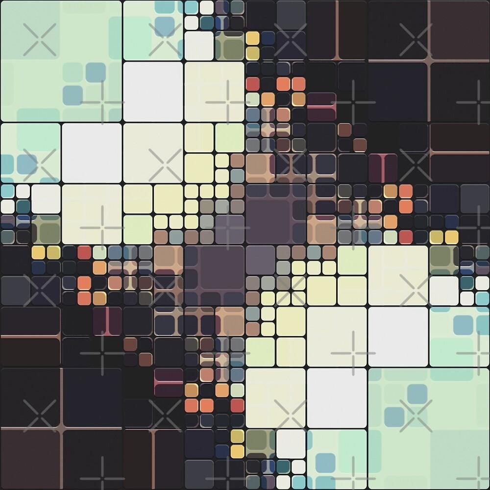 Mocha Mint Tile Pattern by Phil Perkins
