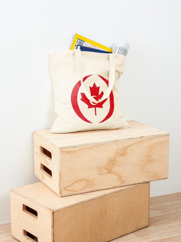 Alternate view of Turkish Canadian Multinational Patriot Flag Series Tote Bag
