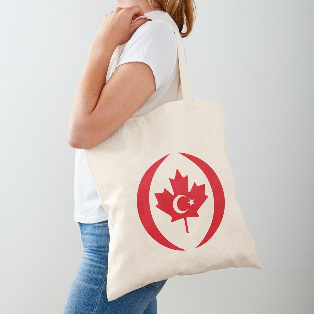 Turkish Canadian Multinational Patriot Flag Series Tote Bag