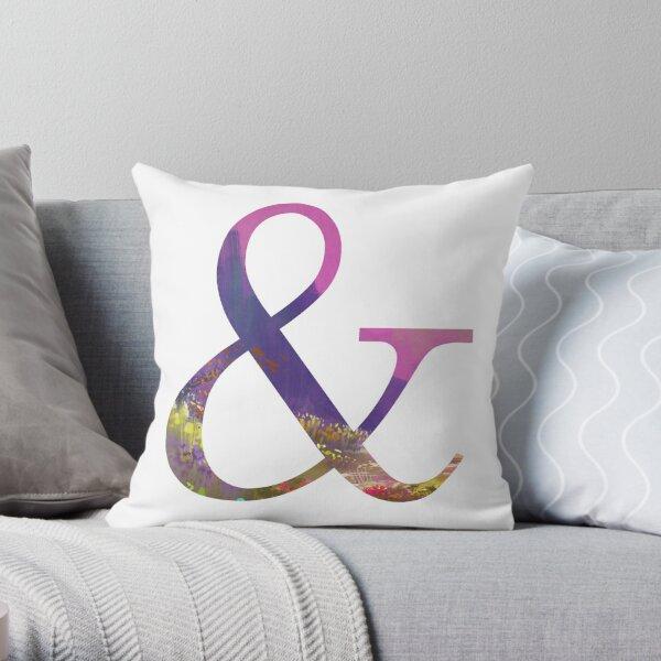 Ampersand Sign. Beautiful Ampersand Symbol. Inspirational Decor. Throw Pillow