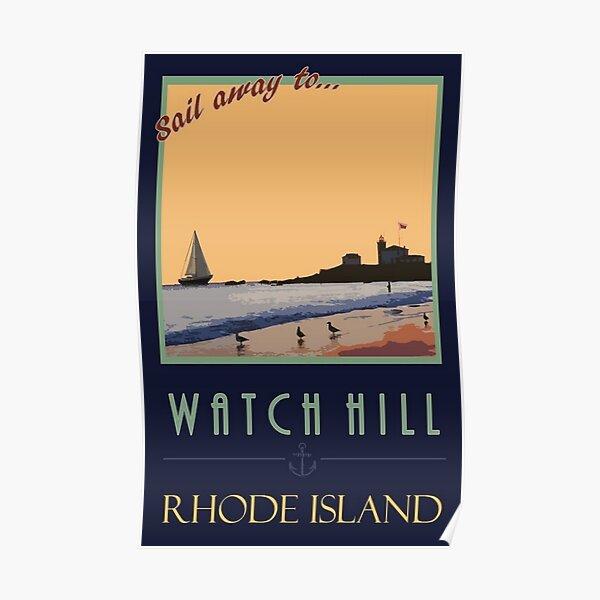 Vintage Watch Hill, Rhode Island Lithograph Poster Wall Art Poster