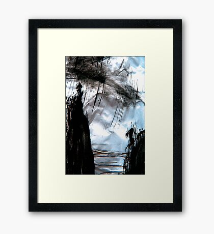 storm out at sea Framed Print