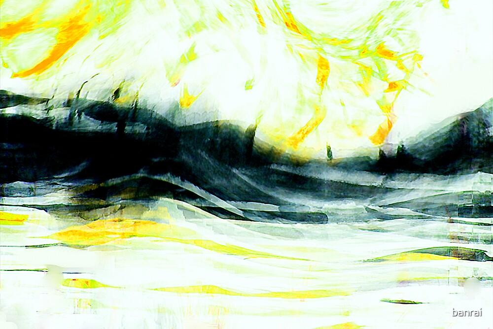 rhine calm misty river #3 by banrai