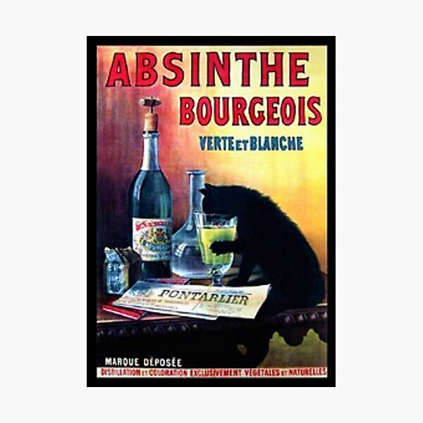 Vintage Marque Deposee Absinthe Bourgeois Lithograph Wall Art Photographic Print