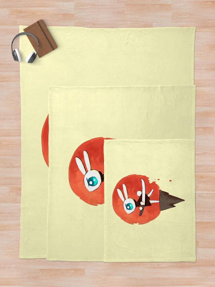 Alternate view of Samurai Bunny Throw Blanket