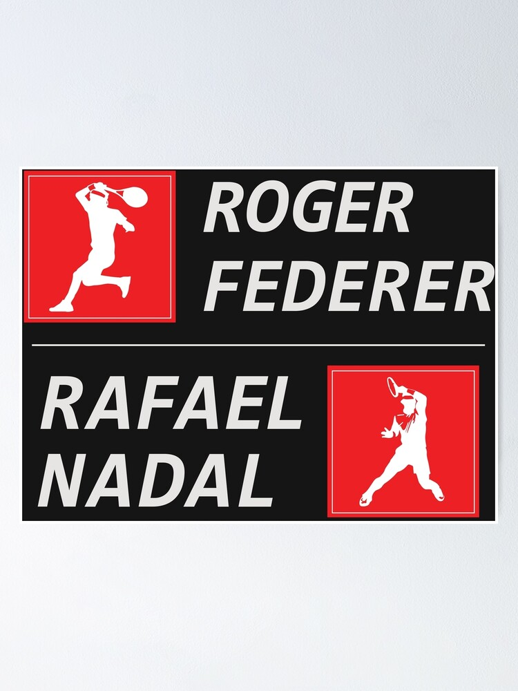 Roger Federer Rafael Nadal Wimbledon POSTER Action
