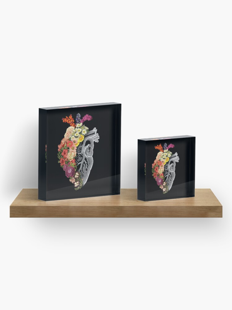 Alternate view of Flower Heart Spring Acrylic Block