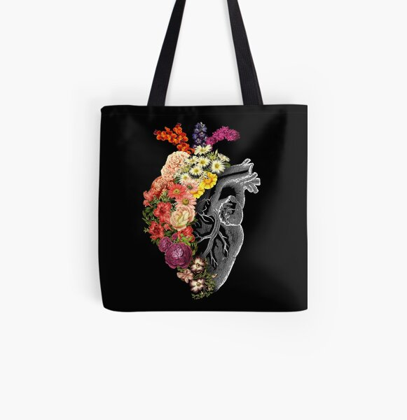 Flower Heart Spring All Over Print Tote Bag