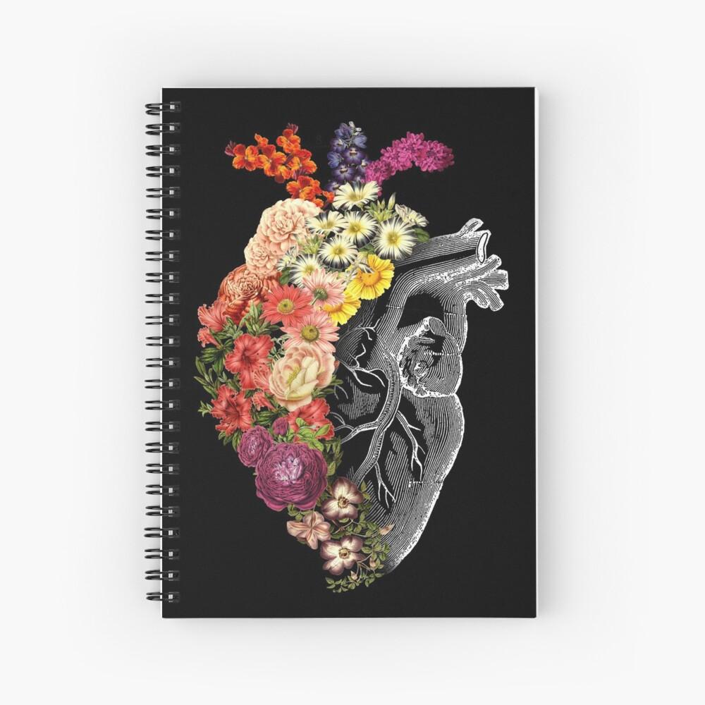 Flower Heart Spring Spiral Notebook