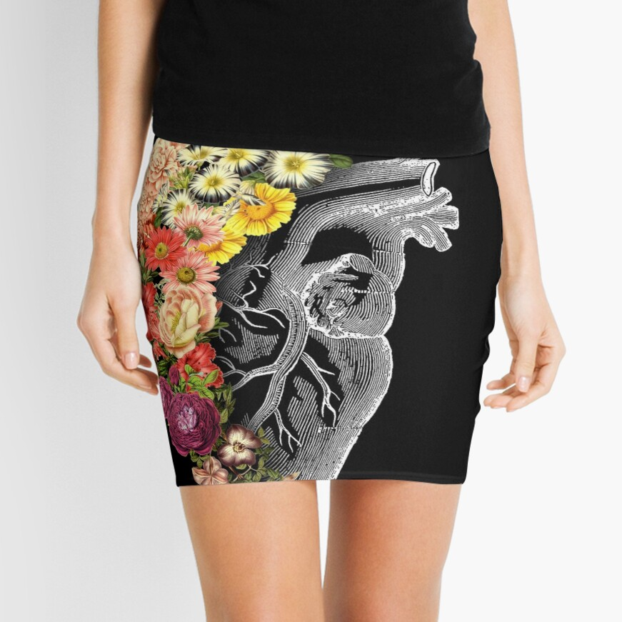 Flower Heart Spring Mini Skirt