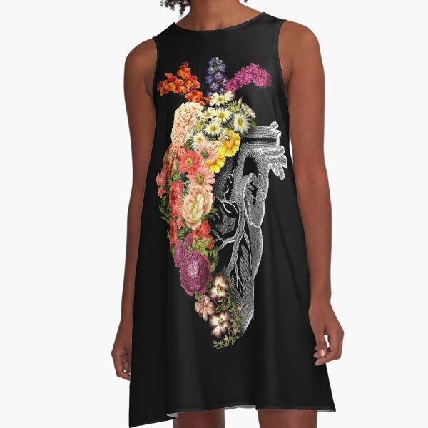 Flower Heart Spring A-Line Dress