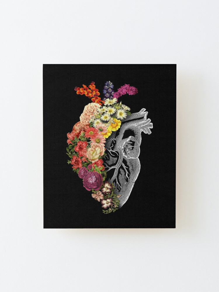 Alternate view of Flower Heart Spring Mounted Print