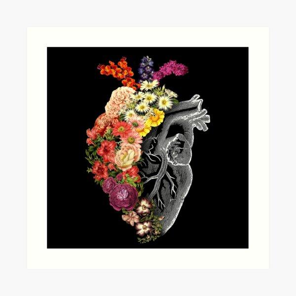 Flower Heart Spring Art Print