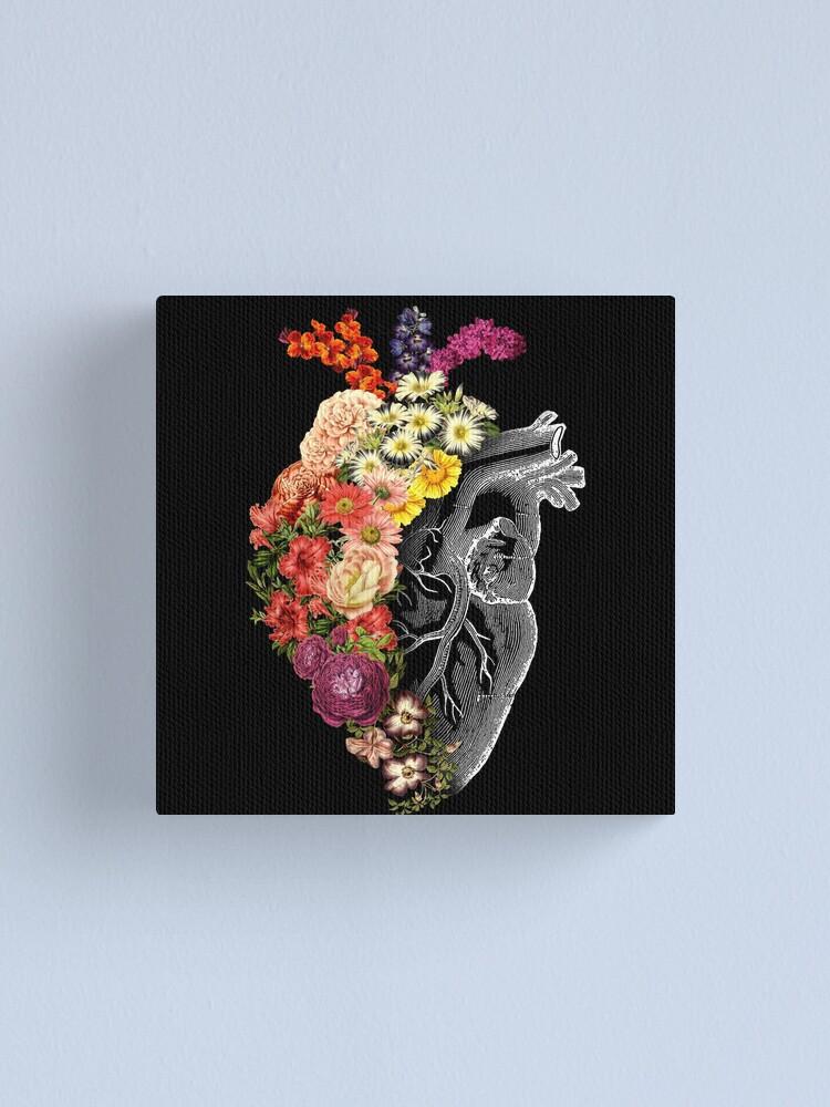 Alternate view of Flower Heart Spring Canvas Print