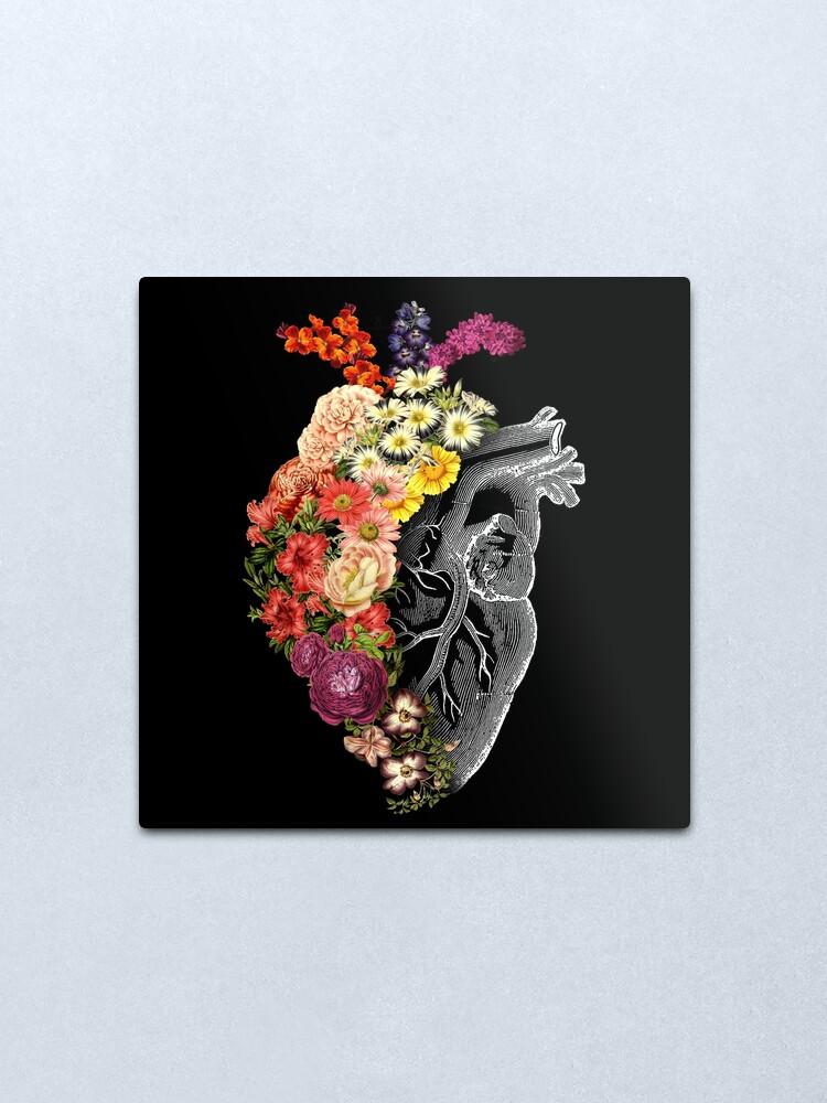Alternate view of Flower Heart Spring Metal Print