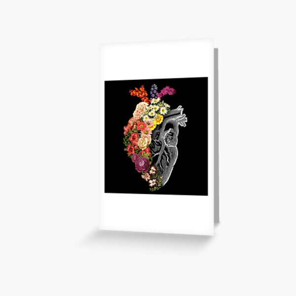 Flower Heart Spring Greeting Card
