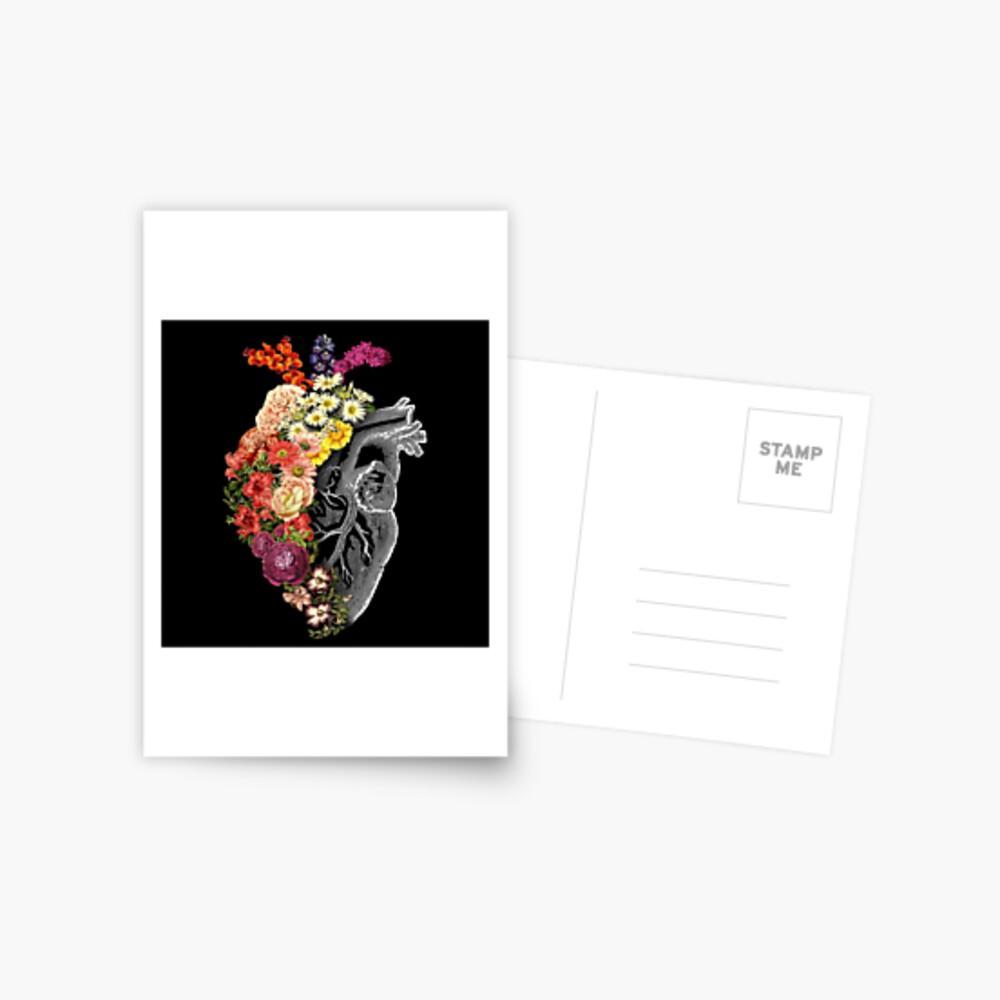 Flower Heart Spring Postcard