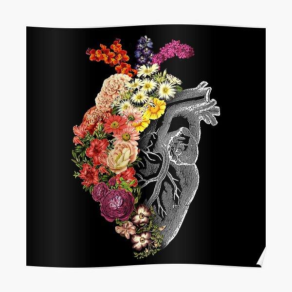 Flower Heart Spring Poster