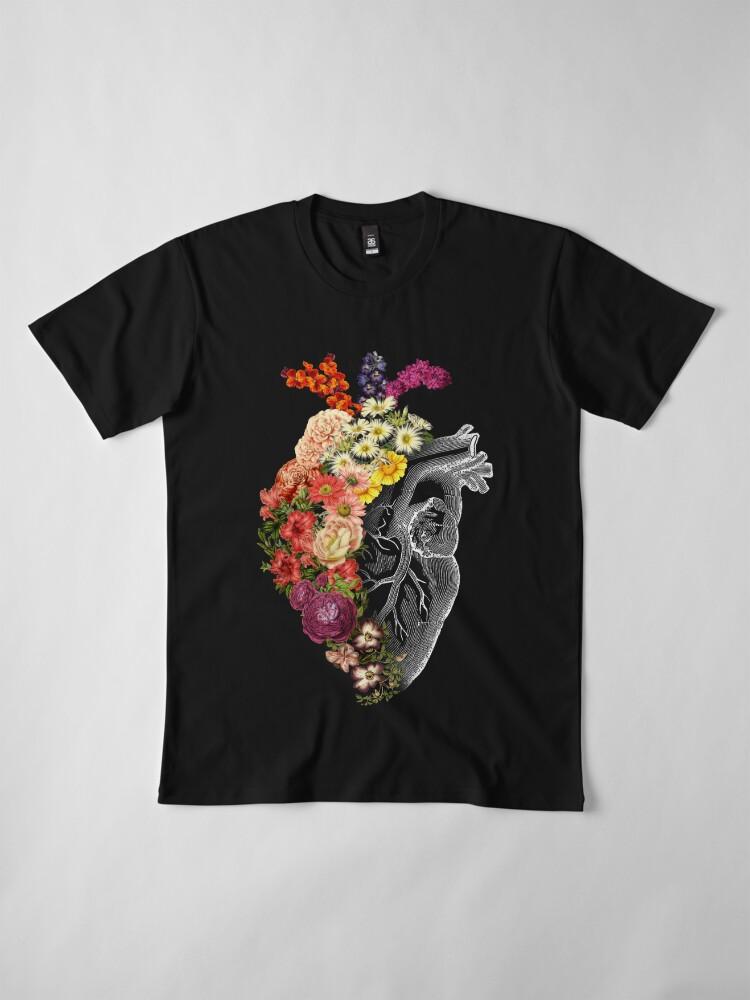 Alternate view of Flower Heart Spring Premium T-Shirt