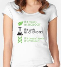 Biology - Chemistry - Physics Women's Fitted Scoop T-Shirt