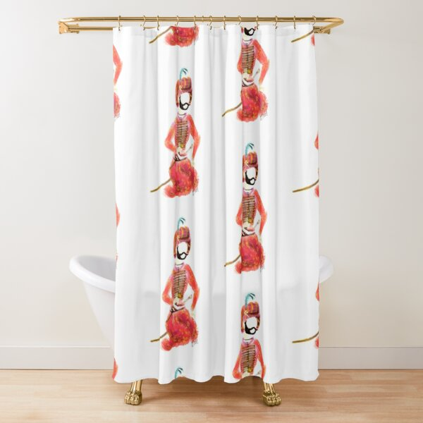PersianSultan man with a sword and knife  Shower Curtain