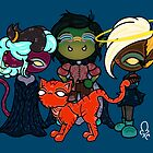 cat!ent & the future assassins guild kiddos by tentaclemade