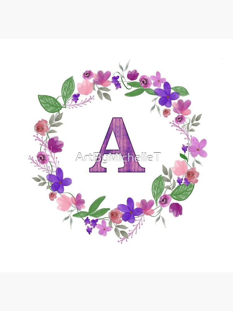 Monogram Letter A by ArtByMichelleT